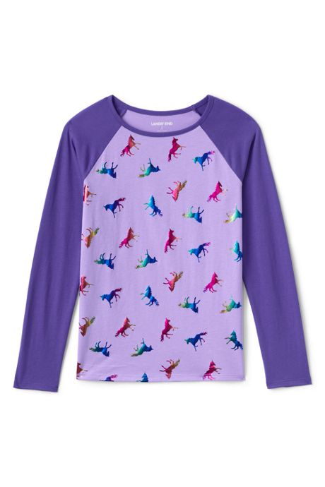 Little Girls Raglan Graphic Tee