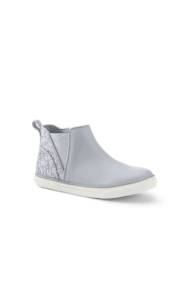 Girls Zip Sneaker Boots, Front