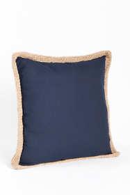 Jute Braid Border Decorative Throw Pillow