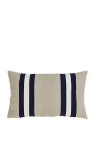 Dual Band Decorative Throw Pillow