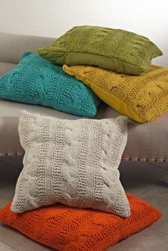 Cable Knit Decorative Throw Pillow