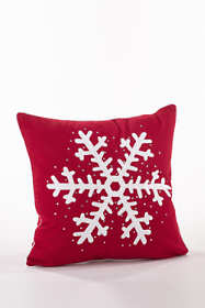 Studded Snowflake Decorative Throw Pillow