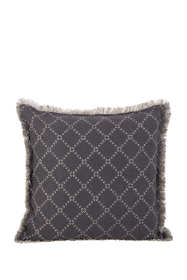 Diamond Fringe Border Decorative Throw Pillow
