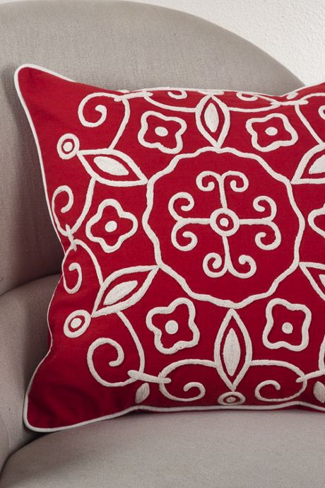 Suzani Embroidery Decorative Throw Pillow
