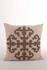 Beaded Medallion Decorative Throw Pillow