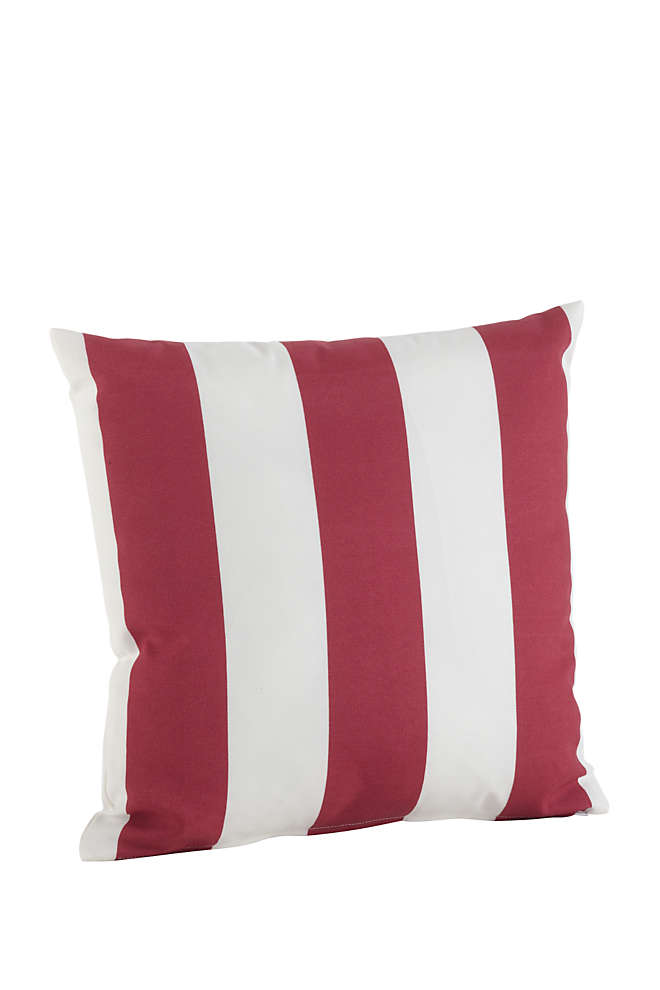 Saro Lifestyle Stripe Indoor Outdoor Decorative Throw Pillow, Front