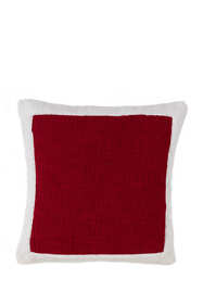 Sherpa Border Christmas Decorative Throw Pillow