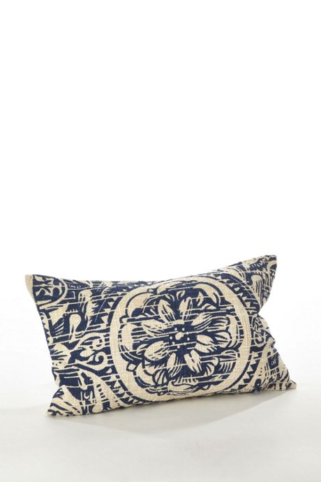 Floral Distressed Decorative Throw Pillow