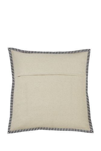 Striped Flange Decorative Throw Pillow