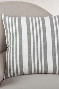 Saro Lifestyle Striped Decorative Throw Pillow, Front