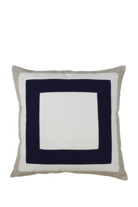 Boxed Border Decorative Throw Pillow