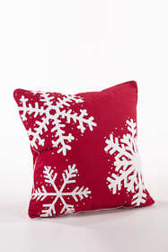 Studded Multi Snowflake Decorative Throw Pillow