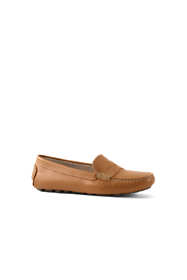 Women's Leather Penny Loafer Driving Mocs
