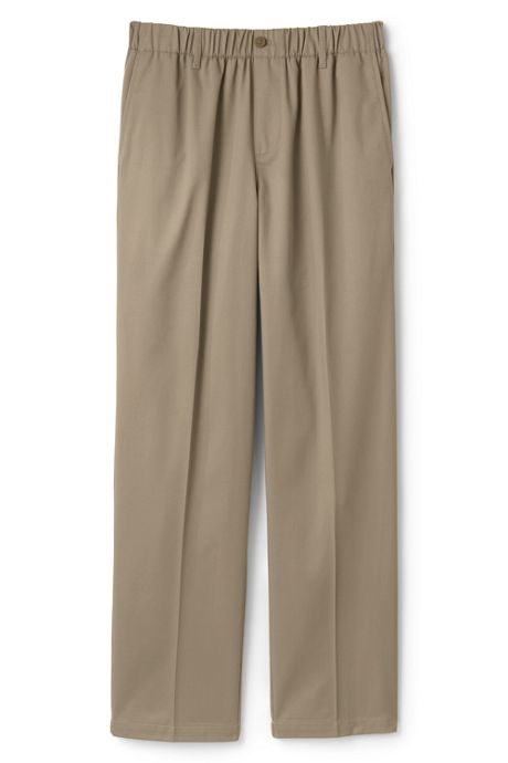 Men's Elastic Waist Pull-On Chino Pants