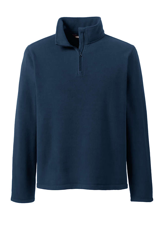 School Uniform Men's Lightweight Fleece Quarter Zip Pullover, Front
