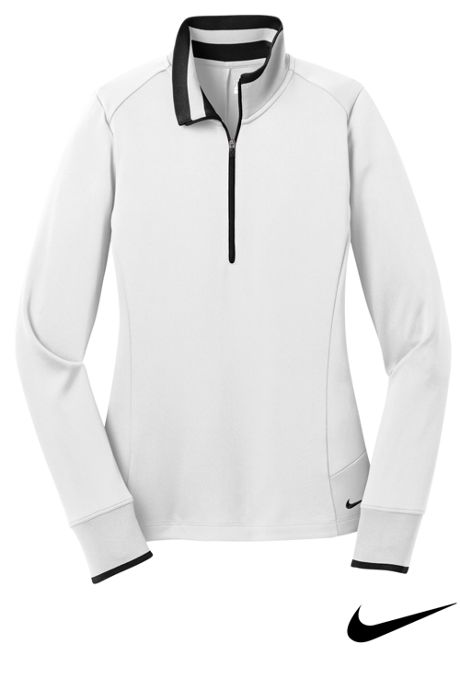 Nike Women's Plus Dri Fit Quarter Zip Pullover