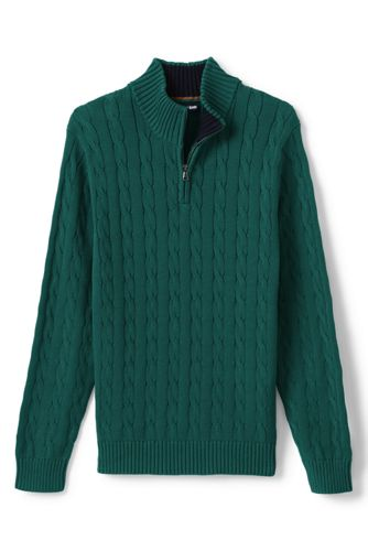 Men's Drifter Half Zip Cotton Cable Jumper