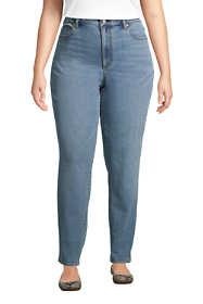 Women's Plus Size Water Conserve Eco Friendly Mid Rise Boyfriend Blue Jeans