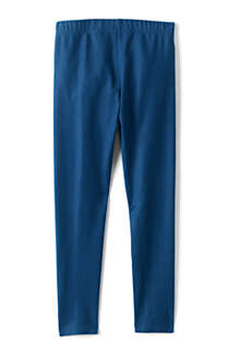 Girls Plus Size Tough Cotton Indigo Ankle Leggings, Back