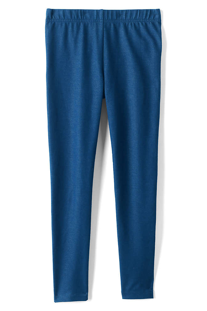 Girls Plus Size Tough Cotton Indigo Ankle Leggings, Front