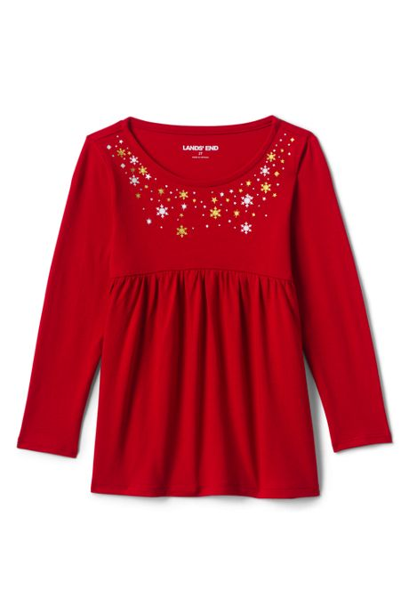 Toddler Girls Long Sleeve Yoke Tunic Top
