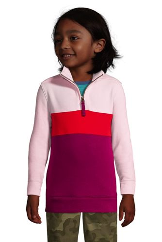 Kids Long Sleeve Color Block Quarter Zip