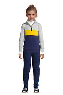 Kids Husky-Plus Long Sleeve Color Block Quarter Zip, Front