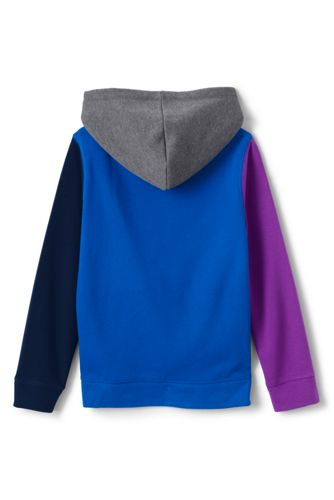 Kids Husky-Plus Color Block Pullover Fleece Hoodie