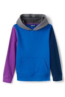 Kids' Colour-Block Pullover Fleece Hoodie