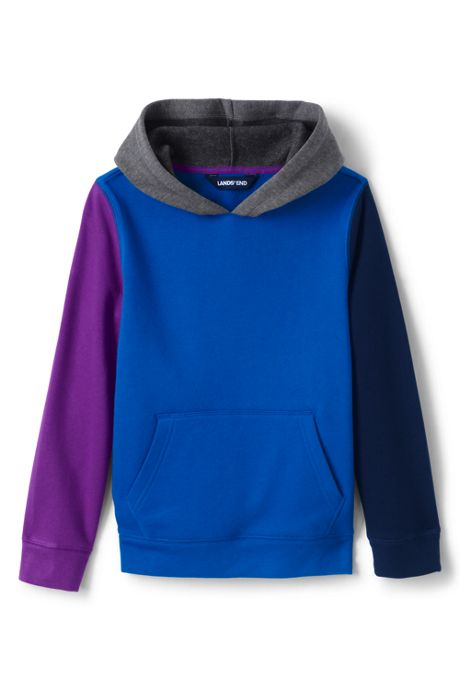Kids Color Block Pullover Fleece Hoodie