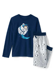 Boys Long Sleeve Glow in the Dark Pajama Set