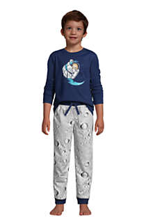 Boys Long Sleeve Glow in the Dark Pajama Set, alternative image