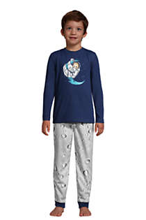 Boys Long Sleeve Glow in the Dark Pajama Set, Front