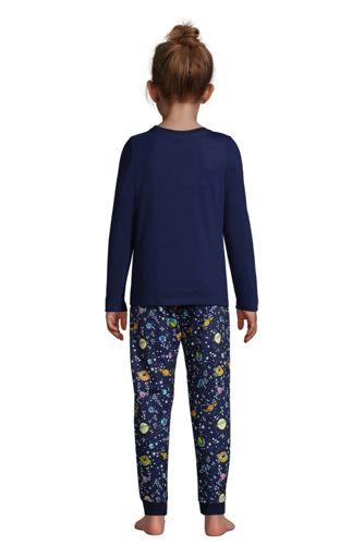 Girls Long Sleeve Glow in the Dark Pajama Set