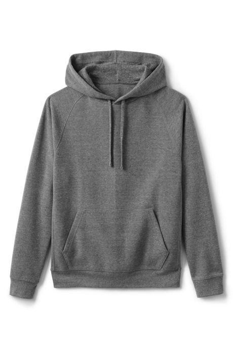 Men's Long Sleeve Waffle Pullover Hoodie Sweatshirt