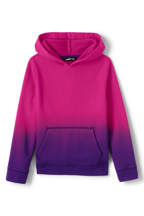 Toddler Kids Dip Dye Pullover Fleece Hoodie