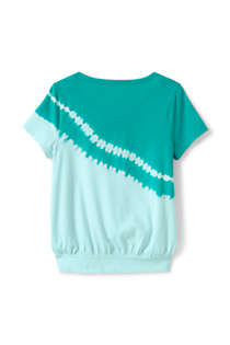 Little Girls Tie Front Tie Dye Top, Back