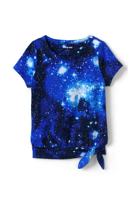 Girls Plus Size Tie Front Tie Dye Top