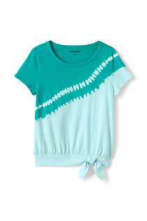 Little Girls Tie Front Tie Dye Top, Front