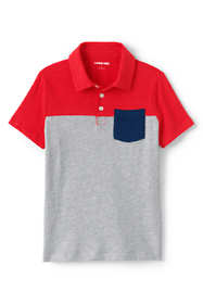 Little Boys Short Sleeve Colorblock Pocket Slub Polo
