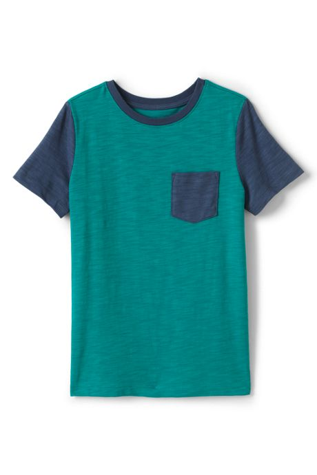 Boys Husky Short Sleeve Colorblock Slub Tee