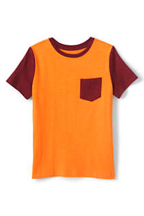 Toddler Boys Short Sleeve Colorblock Slub Tee, Front