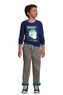 Boys Iron Knee Stretch Lined Rib Waist Pants, alternative image