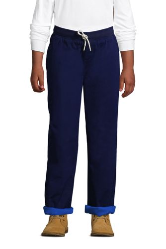 Boys Iron Knee Stretch Lined Rib Waist Pants
