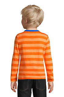 Boys Long Sleeve Pattern Slub Tee, Back