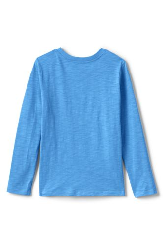 Boys Husky Long Sleeve Solid Slub Tee