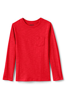 Boys' Long Sleeve Solid Slub T-Shirt