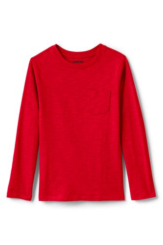 Toddler Boys' Long Sleeve Solid Slub T-Shirt