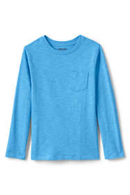 Boys Long Sleeve Solid Slub Tee