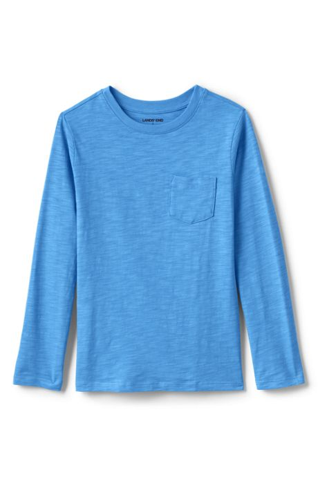 Toddler Boys Long Sleeve Solid Slub Tee